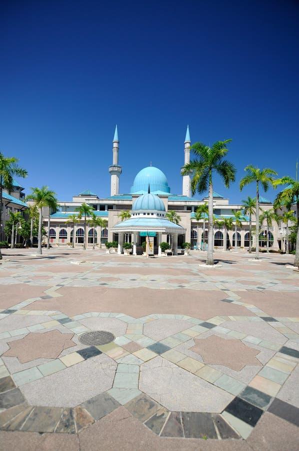 Sultan Haji Ahmad Shah Mosque a K uma mesquita de UIA em Gombak, Malásia imagens de stock