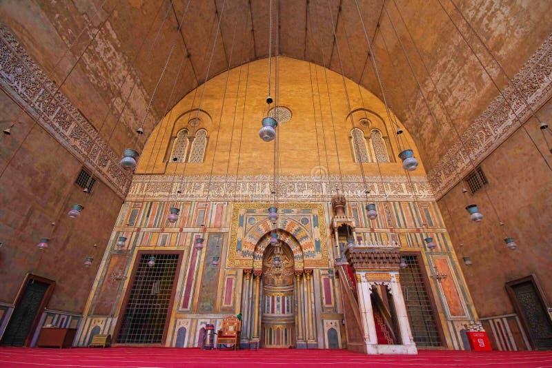 Sultan Hassan Mosque - altes Kairo stockfoto