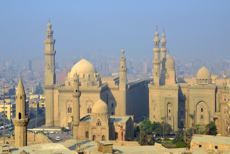Sultan Hassan och Rifai moskéer arkivfoto