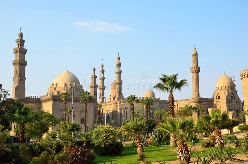 Sultan Hassan och Rifai moskéer royaltyfri fotografi