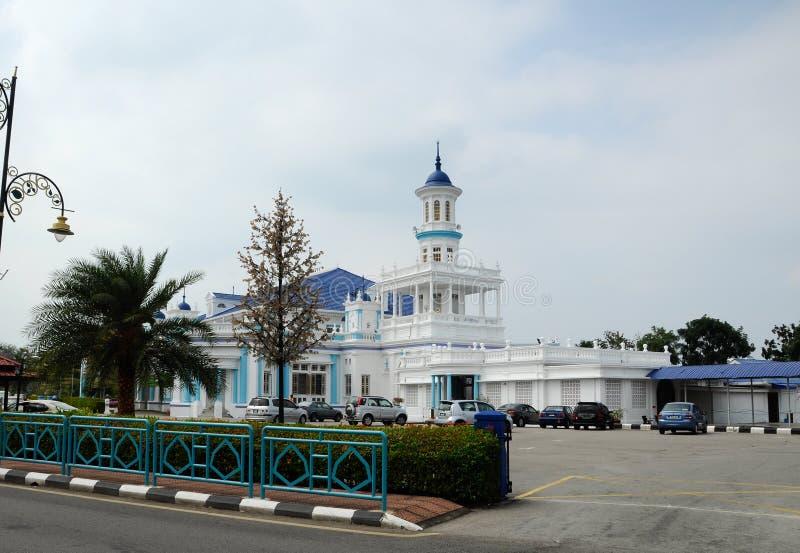 Sultan Ibrahim Jamek Mosque på Muar, Johor royaltyfri fotografi