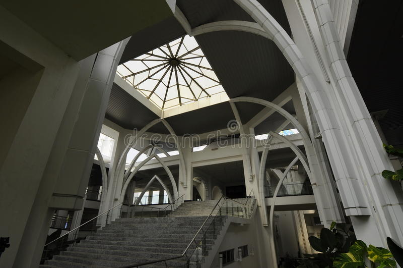 Sultan Ismail Airport Mosque - Senai flygplats, Malaysia arkivfoton