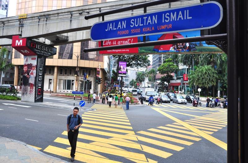 Sultan Ismail, Kuala Lumpur de Jalan photo stock