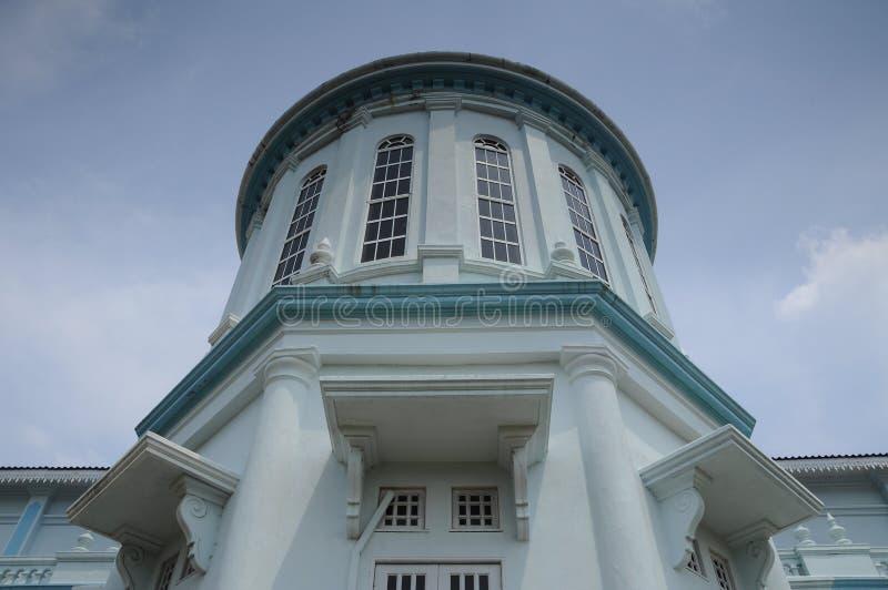 Sultan Ismail Mosque i Muar royaltyfria foton