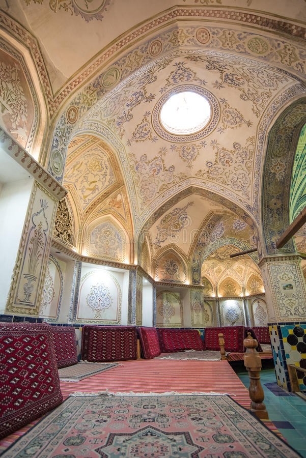 Sultan Mir Ahmed Bathhouse in Kashan, Iran stock images