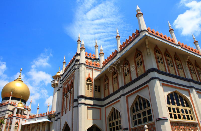 Sultan Mosque. Masjid Sultan (Malay for Sultan Mosque) is located at Muscat Street and North Bridge Road within the Kampong Glam district of Rochor Planning Area stock images