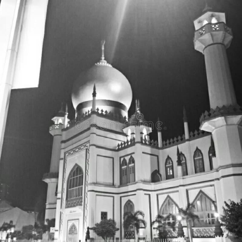 Sultan Mosque en el encanto Singapur del Kampong fotografía de archivo
