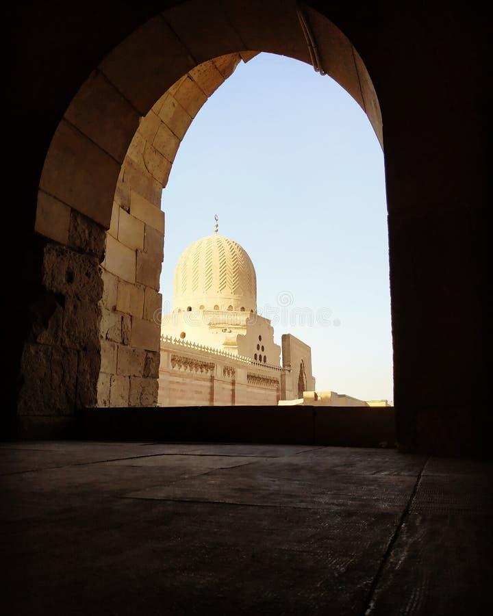 Sultan Mosque i Kairo arkivbilder