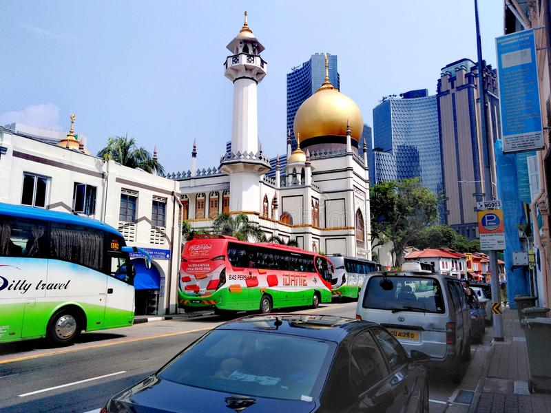 Sultan mosque in Kampong Glam stock photos