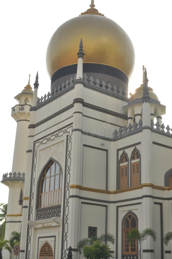 The beautiful Sultan Mosque in Singapore. Sultan Mosque is located at Muscat Street and North Bridge Road within the Kampong Glam district of Rochor Planning royalty free stock photo