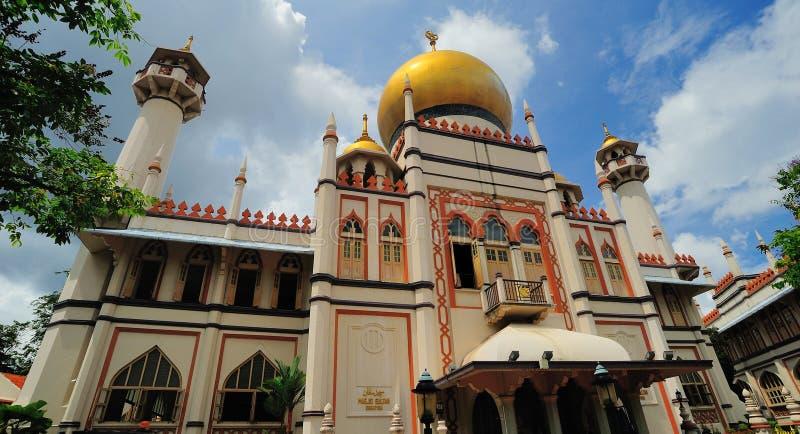 Sultan Mosque of Masjid-Sultan stock afbeeldingen