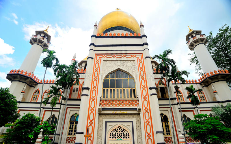 Sultan Mosque, Singapore. Sultan Mosque is located at Muscat Street and North Bridge Road within the Kampong Glam district of Rochor Planning Area in Singapore royalty free stock image