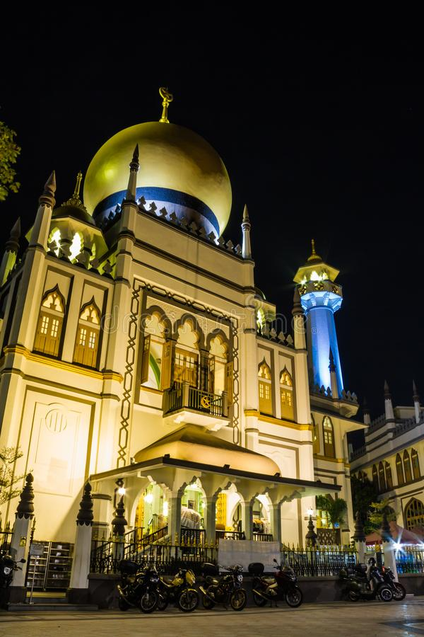 Sultan Mosque, Singapore. Daytime image of the Sultan Mosque in Singapore in the Little Arabia district stock images
