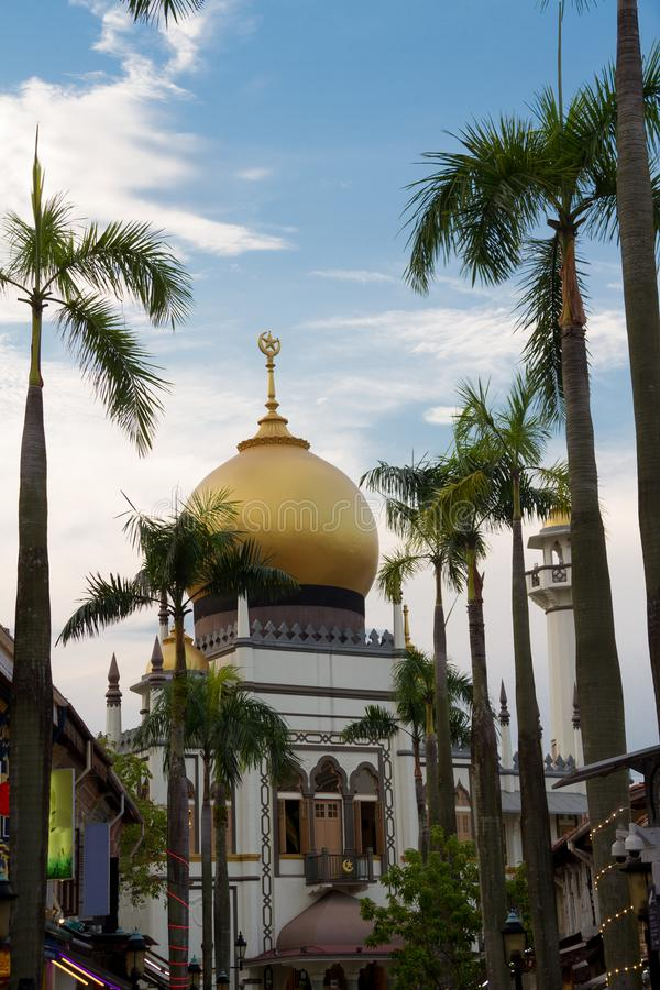 Sultan Mosque, Singapore. Daytime image of the Sultan Mosque in Singapore in the Little Arabia district stock photos