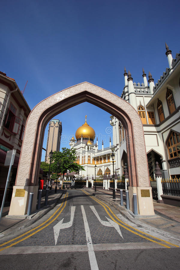 Sultan Mosque Singapore. Sultan Mosque at kampung Gelam, Singapore royalty free stock photo