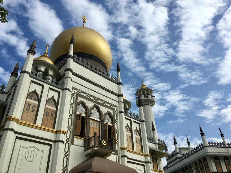 Sultan Mosque, Singapore. Sultan Mosque, or Masjid Sultan, in Kampong Glam, Singapore royalty free stock photography