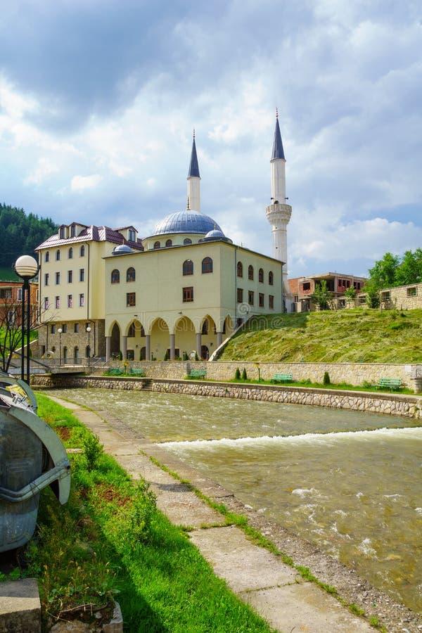 Sultan Murat II Moskee in Rozaje royalty-vrije stock afbeeldingen