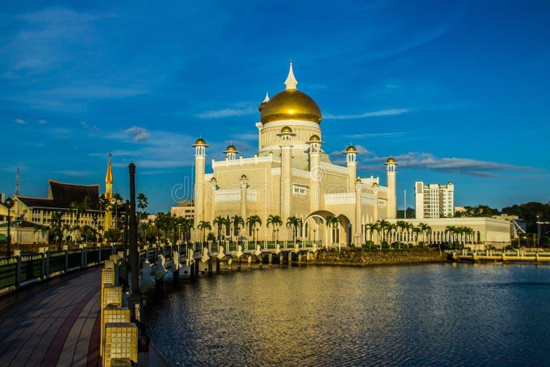 Sultan Omar Ali Saifuddien Mosque fotografia de stock royalty free