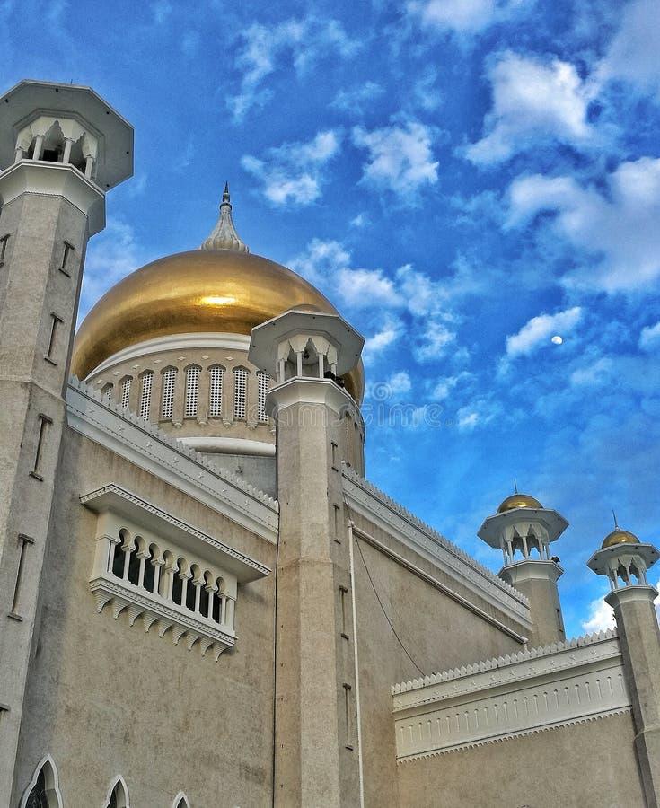 Sultan Omar Ali Saifuddien Mosque immagini stock