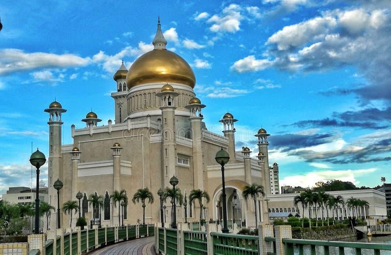 Sultan Omar Ali Saifuddien Mosque immagine stock
