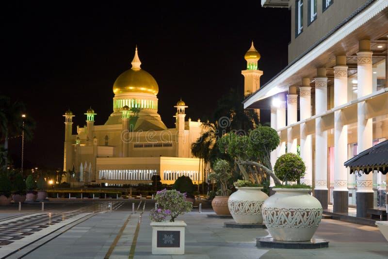 Sultan Omar Ali Saifuddien Mosque, Brunei royalty-vrije stock afbeeldingen