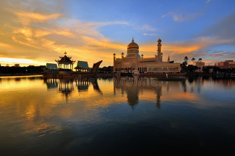 Sultan Omar Ali Saifuddin Mosque fotografie stock