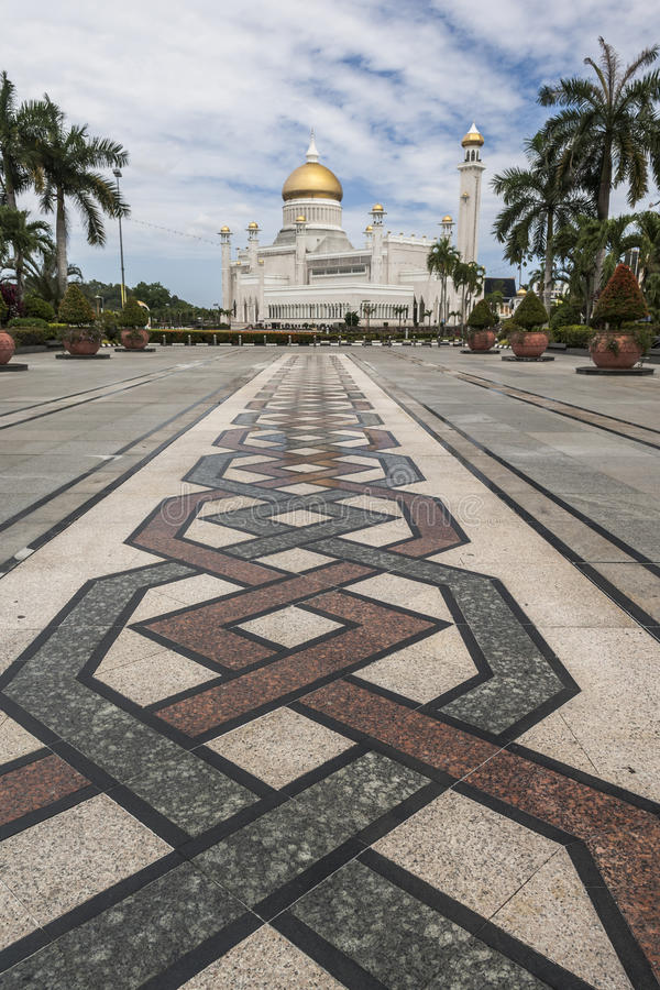 Sultan Omar Ali Saifuddin Mosque in Bandar Seri Begawan royalty-vrije stock foto