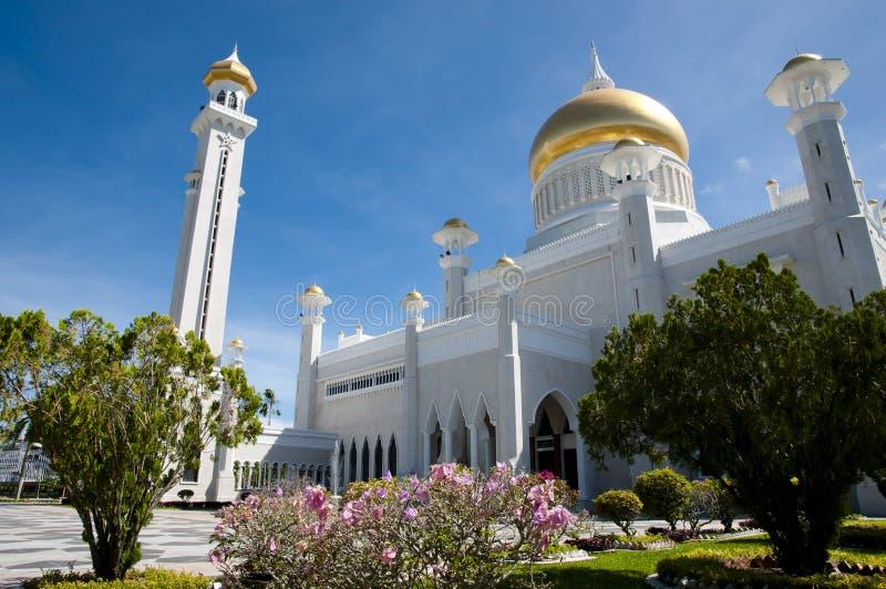 Sultan Omar Ali Saifuddin Mosque - Bandar Seri Begawan - Brunei Darussalam foto de stock royalty free
