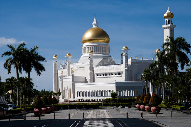 Sultan Omar Ali Saifuddin Mosque - Brunei Darussalam imagem de stock royalty free
