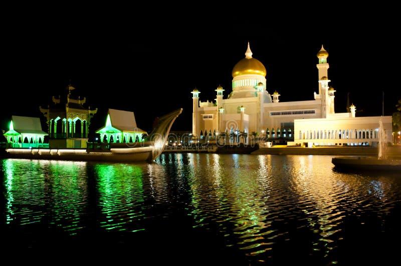 Sultan Omar Ali Saifuddin Mosque - Brunei Darussalam foto de stock royalty free