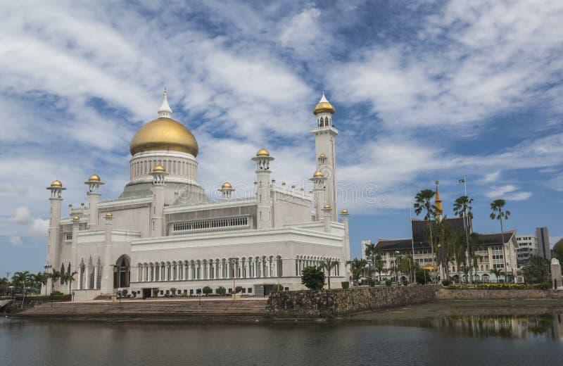 Sultan Omar Ali Saifuddin Mosque en Bandar Seri Begawan photos libres de droits