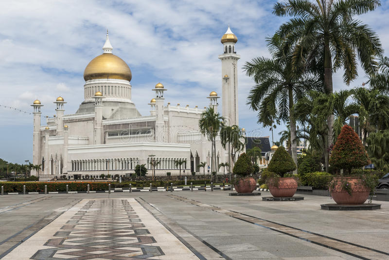 Sultan Omar Ali Saifuddin Mosque en Bandar Seri Begawan image libre de droits