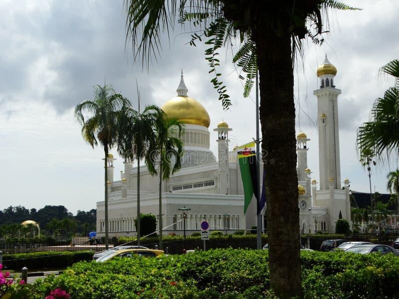 Sultan Omar Ali Saifudding Mosque Bandar Seri Begawan, Brunei fotografering för bildbyråer