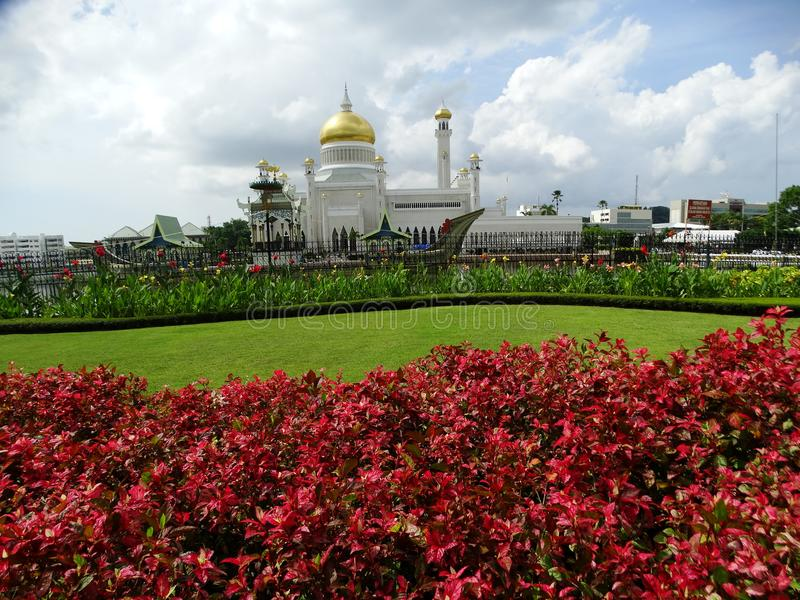 Sultan Omar Ali Saifudding Mosque Bandar Seri Begawan, Brunei arkivbild