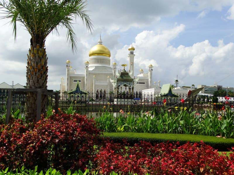 Sultan Omar Ali Saifudding Mosque Bandar Seri Begawan, Brunei royaltyfri fotografi