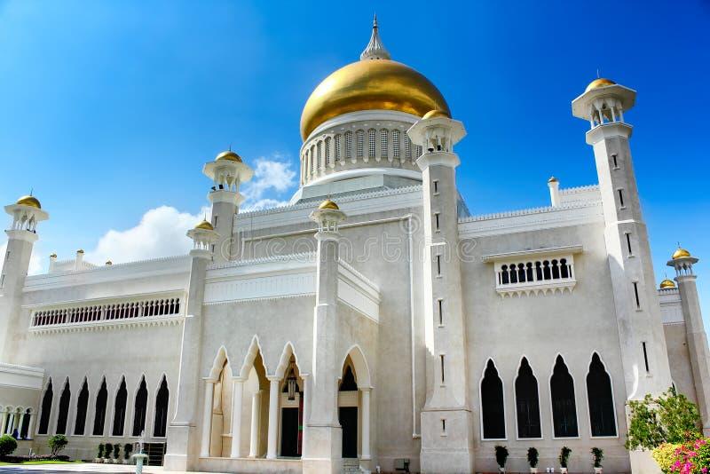 Sultan Omar Ali Saifudding Mosque Bandar Seri Begawan, Brunei, arkivfoto