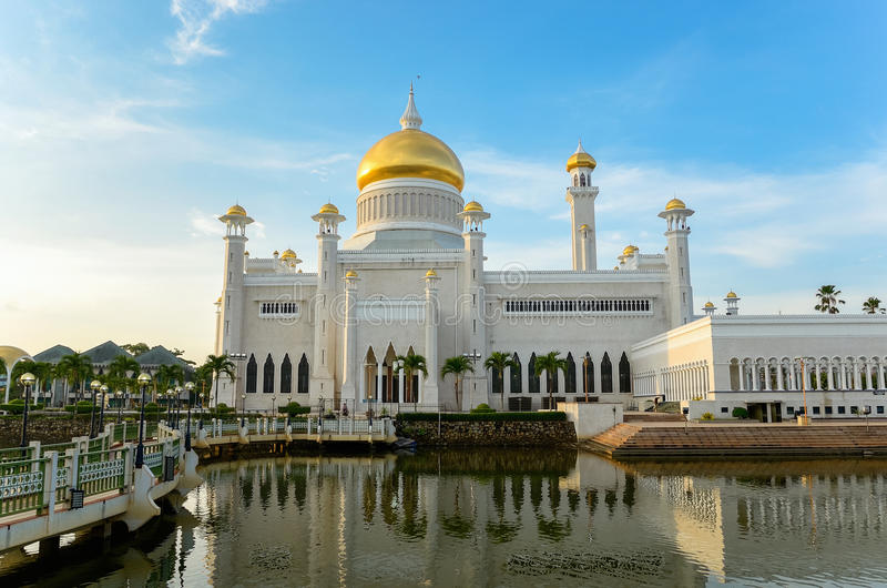 Sultan Omar mosque, Brunei royalty free stock photography