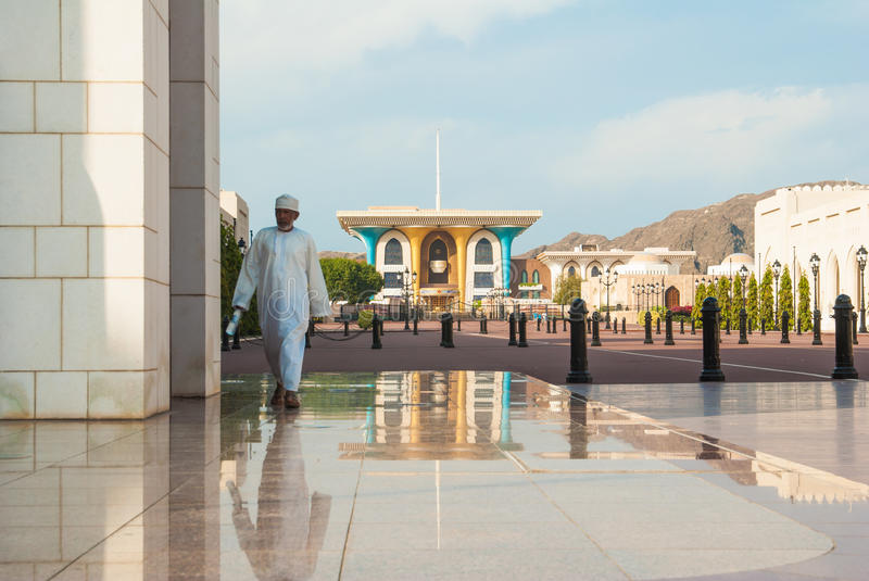 Sultan palace, Oman stock images