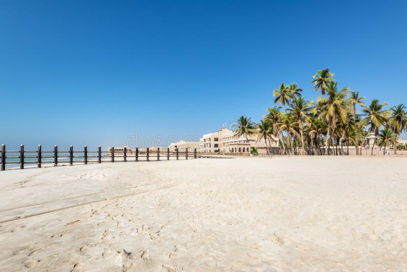 Sultan Qaboos bin Said`s Al-Husn Palace on the Indian Ocean in Salalah, Dhofar Province, Oman. Salalah, Sultanat of Oman - November 12, 2017: The Sultan Qaboos stock photos