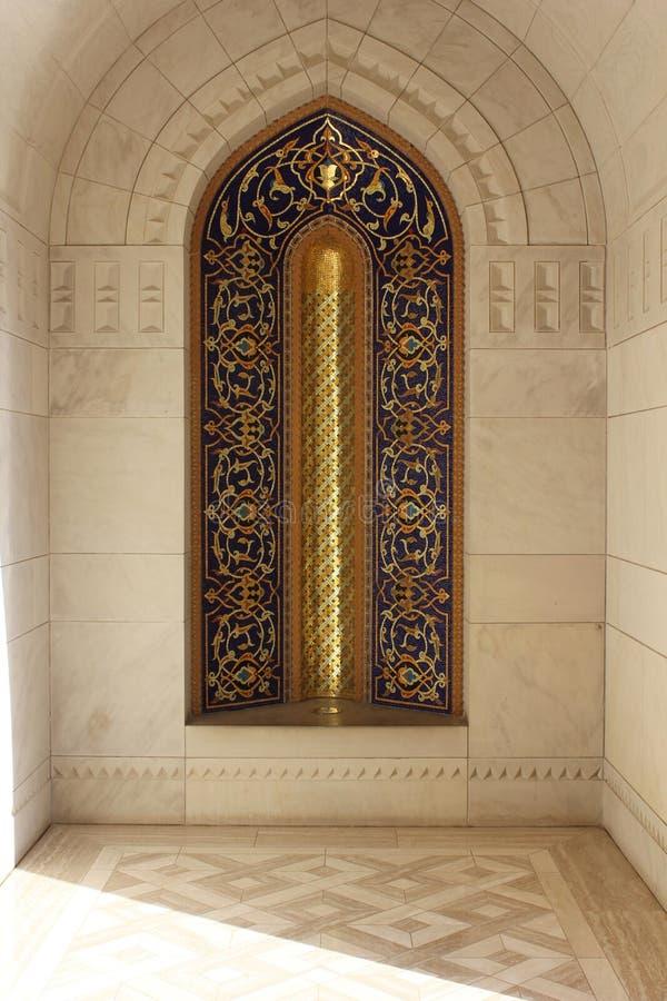 Sultan Qaboos Grand Mosque arkitekturdetalj arkivfoton
