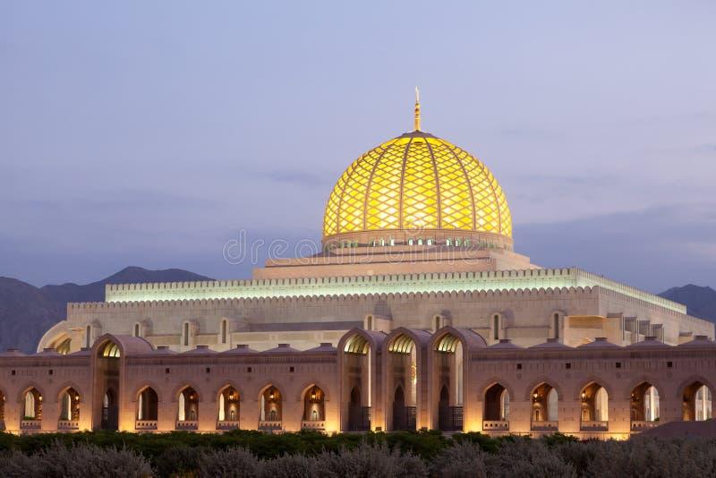 Sultan Qaboos Grand Mosque en Muscat, Omán foto de archivo libre de regalías