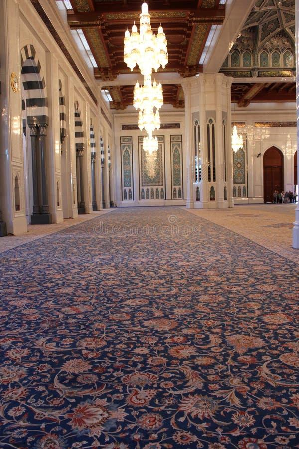 Sultan Qaboos Grand Mosque matta arkivfoto