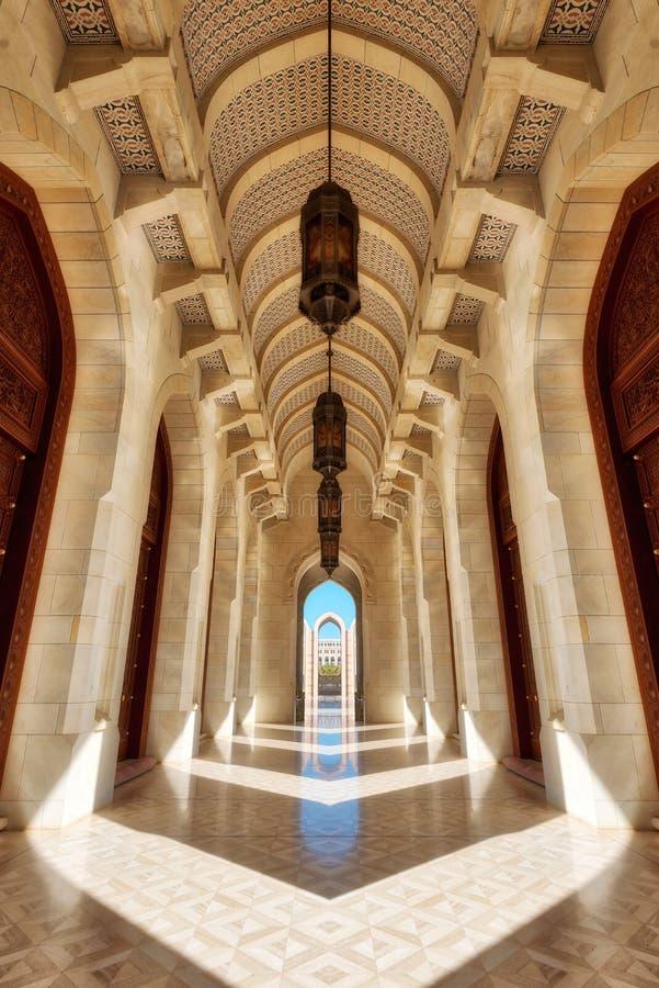Sultan Qaboos Grand Mosque Muscat, Oman fotografering för bildbyråer