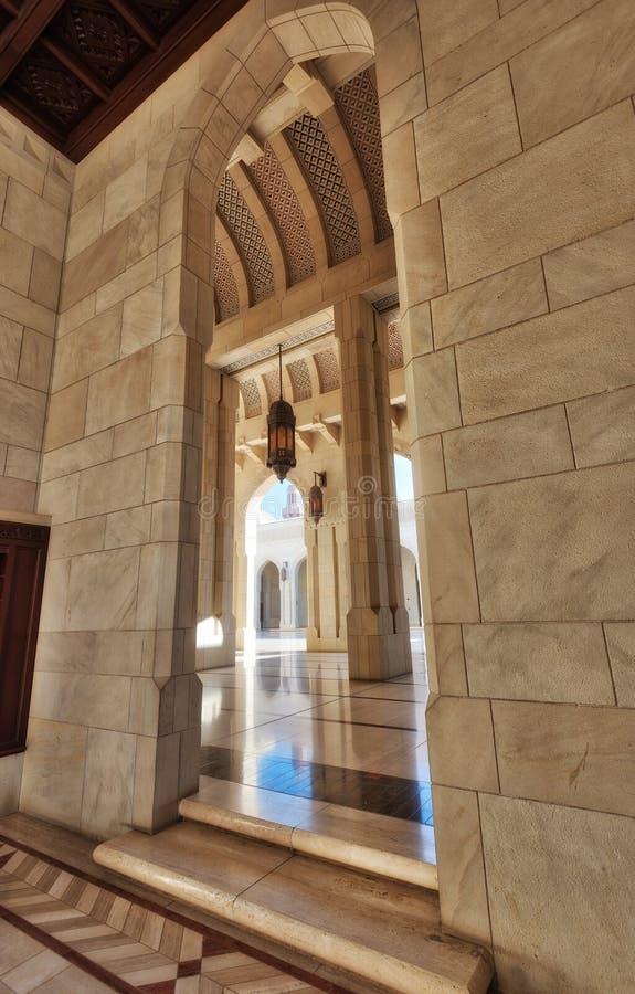 Sultan Qaboos Grand Mosque Muscat, Oman arkivfoto