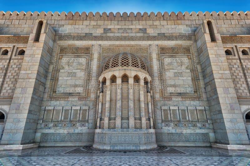 Sultan Qaboos Grand Mosque Muscat, Oman royaltyfria foton