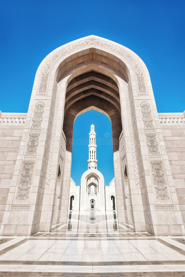 Sultan Qaboos Grand Mosque Muscat, Oman arkivfoton