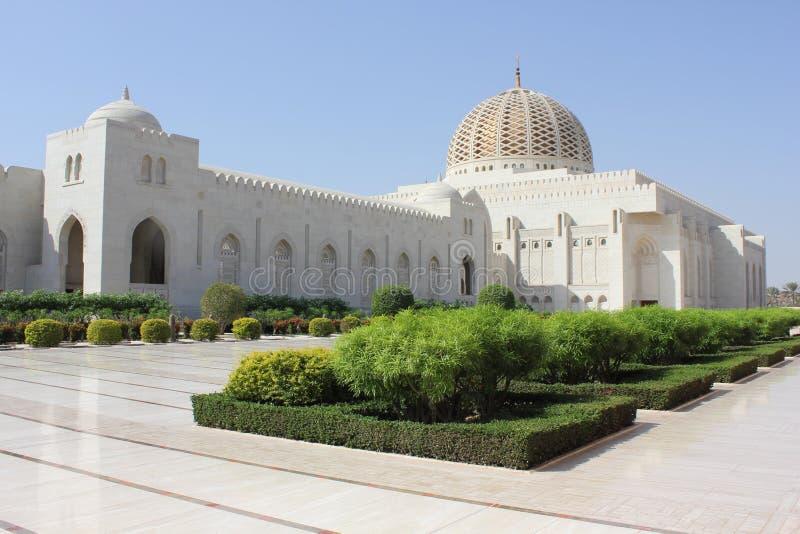 Sultan Qaboos Grand Mosque yttre sikt royaltyfria bilder