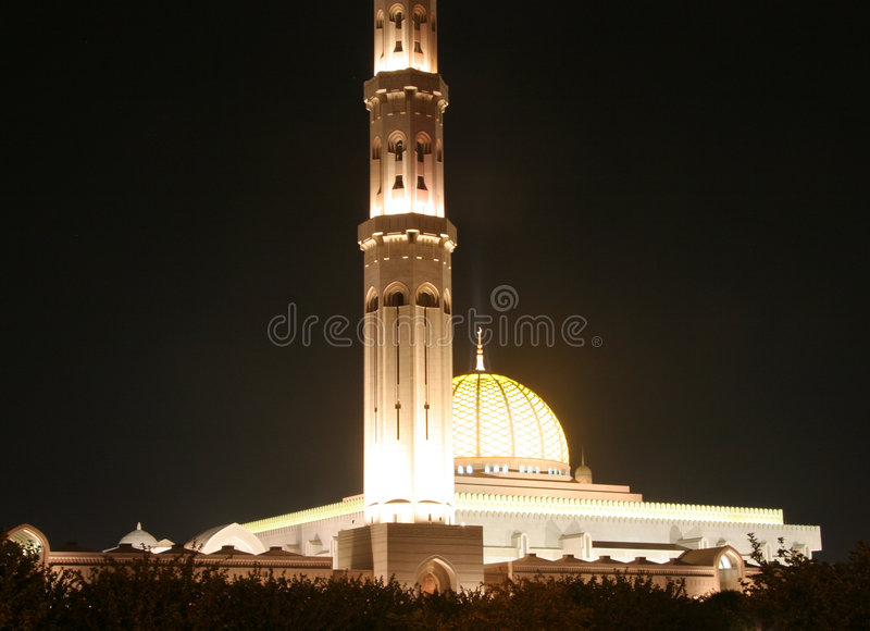 Sultan Qaboos Mosk In Oman Royalty Free Stock Images
