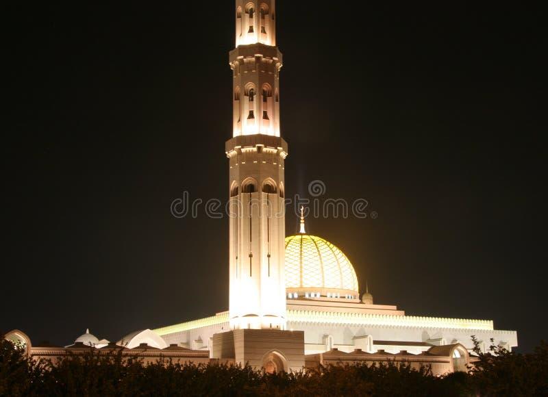 Sultan Qaboos mosk in Oman lizenzfreie stockbilder