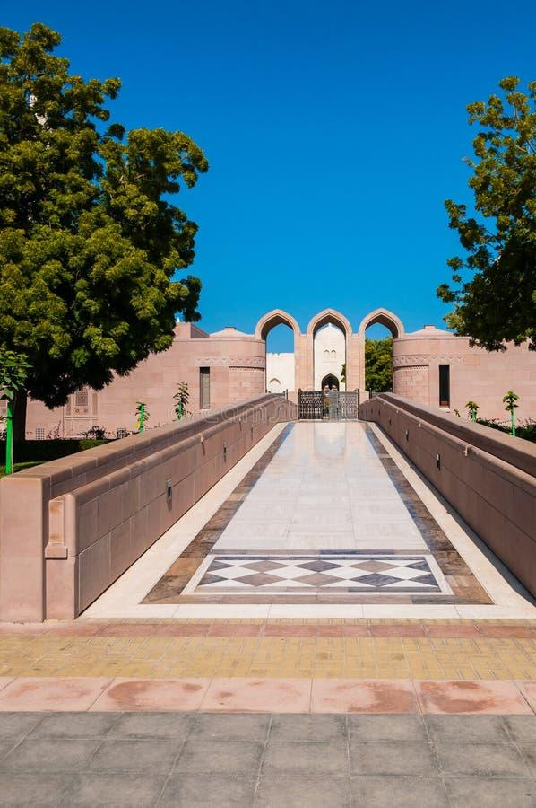 Sultan Qaboos Mosque Muscat, Oman arkivfoton